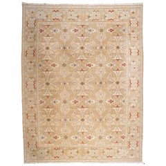 Gold, Red and Green Pattern Rug