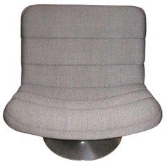 F978 Grey Fabric Swivel Lounge Chair