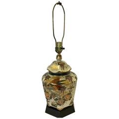 Porcelain Vintage Table Lamp Asian Inspired