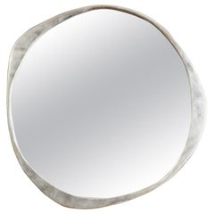 'A.Cepa' Wall Mirror in Satin Stainless Steel