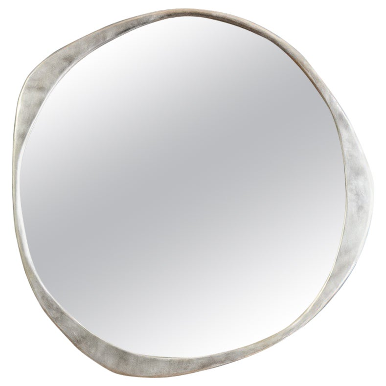 'A.Cepa' Wall Mirror Large in Satin Stainless Steel