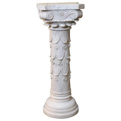 Pair of 19th Century Italian Marble Carved Pedestals