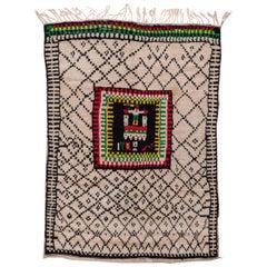 Moroccan Azilal Rug, Colorful Motif, High Pile