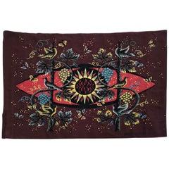 """Jean Picard le doux Tapestry Silkscreen 'le Soleil Et La Vigne"""""""