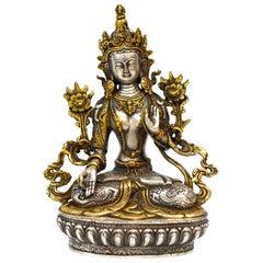 Gilded Silver Tibetan White Tara