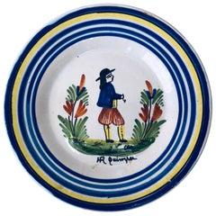 French Quimper Plate Henriot Quimper