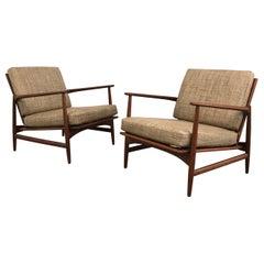 Danish Modern Teak Lounge Chairs by Ib Kofod Larsen for Selig