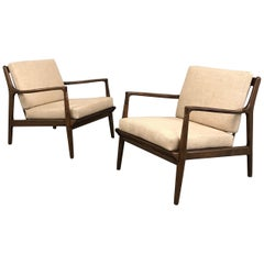 Mid-Century Modern Maple Lounge Chairs