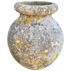 Large, Flared Round Pot with Superb Patina