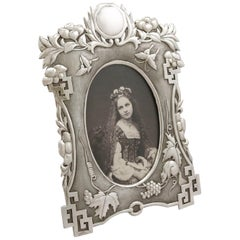 Antique Chinese Export Silver Photograph Frame