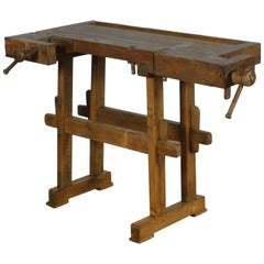 Vintage Oak Carpenter's Workbench, 1935