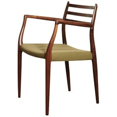 Niels O Moller Model 62 Rosewood Carver Dining Chair, Denmark, 1960s