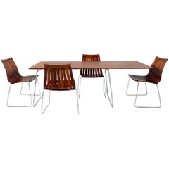 Rare Tønnestav Dining Set by Kjell Richardsen for Tynes Møbelfabrikk Norway 1960