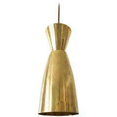 Large Mid-Century Modern Diabolo Brass Pendant Lamp, 1950s, Germany