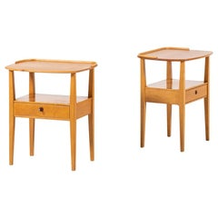Pair of Bedside or Side Tables by Nordiska Kompaniet in Sweden