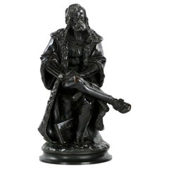 19th Century French Antique Bronze Sculpture of Albrecht Durer by Carrier-Belleu
