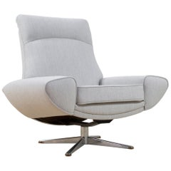 Scandinavian Modern Capri High Back Chair by Johannes Andersen for Trensum, 1958