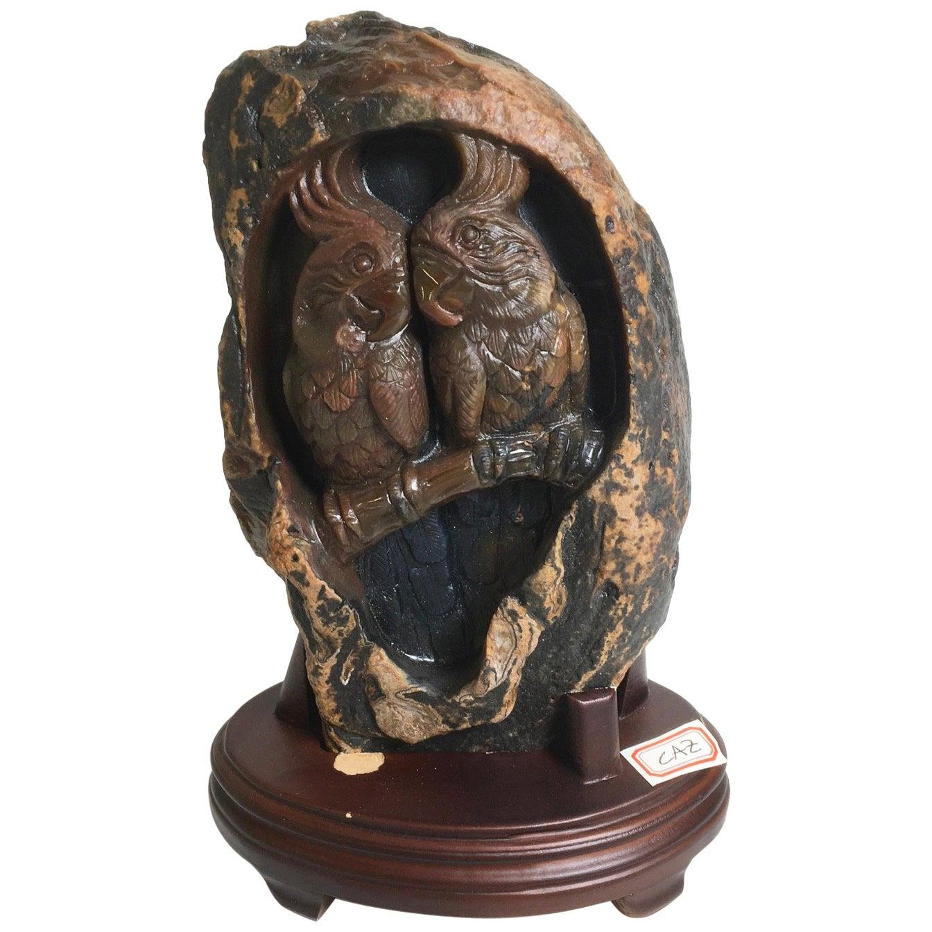 Beautiful Carved Agate Sculpture