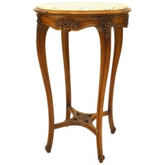 French Louis XV Style Marble-Top End Table
