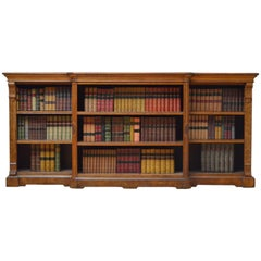 Victorian Oak Low Open Bookcase
