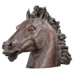 Terracotta Head of a Horse