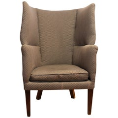 Mahogany Barrel-Shaped Wing Orkney Chair George III 1785
