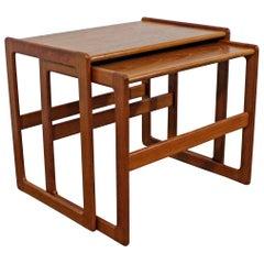 Pair of Mid-Century Modern Teak Nesting Tables/End Tables