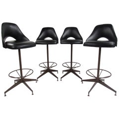 Set of Four Vintage Midcentury Antarenni Swivel Stools
