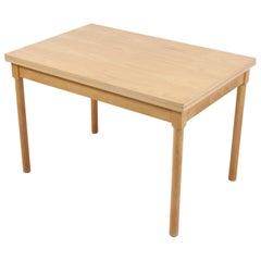 Børge Mogensen Folding Table, Model 4500, in Beech, Fritz Hansen, 1989