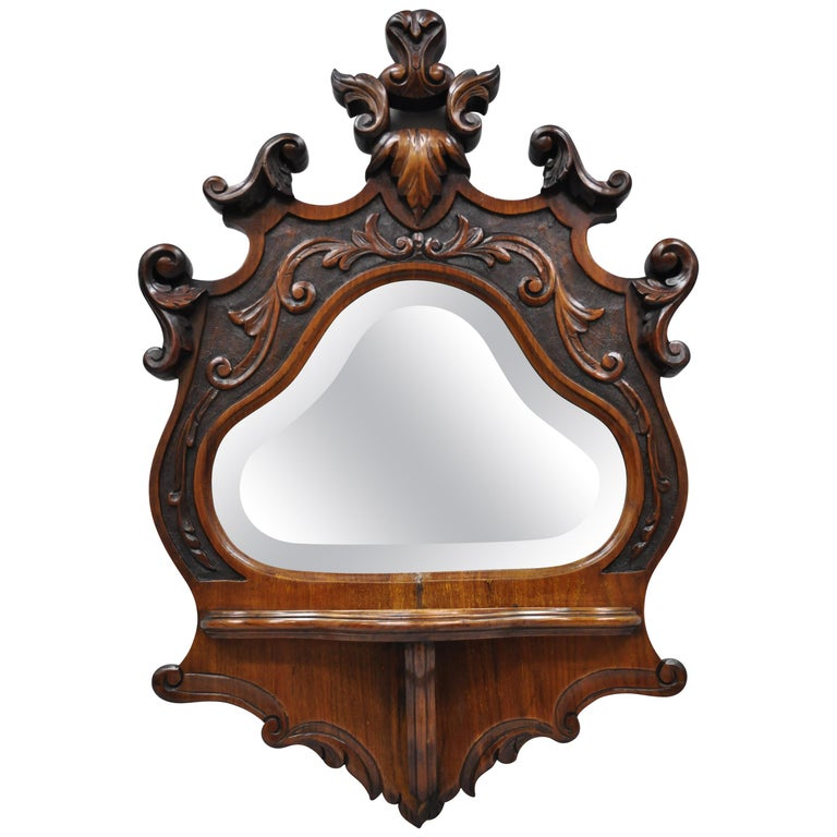 Awe Inspiring 19Th Century Eastlake Victorian Carved Walnut Small Wall Shelf Short Links Chair Design For Home Short Linksinfo