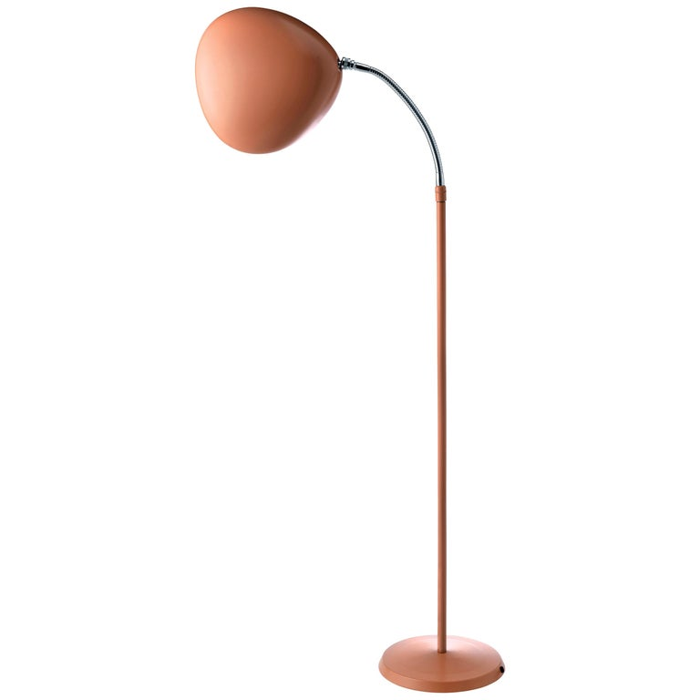 Greta Magnusson Grossman 'Cobra' Floor Lamp in Red For Sale