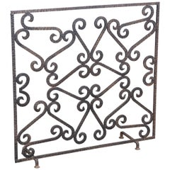 French Art Deco Iron Fireplace Screen