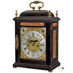 William III Period Antique Ebony Clock by Richard Street, London