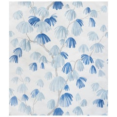 Schumacher David Kaihoi Weeping Pine Botanical Slate Wallpaper, 9 Yard Roll