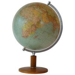 Terrestrial Globe Swiss, 1950s Midcentury