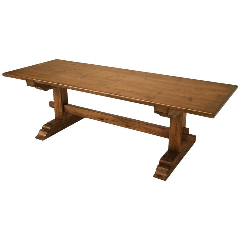 Authentic Italian Style Farm Table Made from Old European Lumber