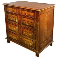 Charles II Oak and Walnut Chest of Drawers