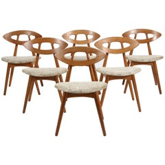 Set of Six Eye Dining Chairs by Ejvind Johansson, 1961