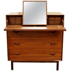 Mid-Century Modern Peter Hvidt Teak Chest Vanity Dresser Cabinet Danish, 1950s