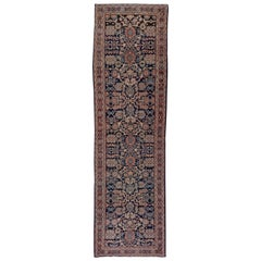 Antique Mahal Runner, Wide, circa 1930s