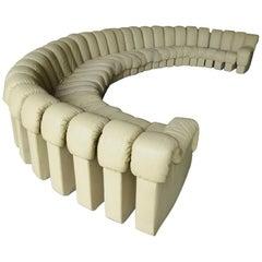 De Sede DS600 Non Stop Sofa in an Ecru Leather