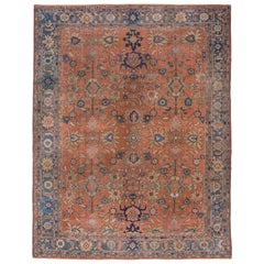Antique Sultanabad Carpet, Soft Palette, circa 1910s