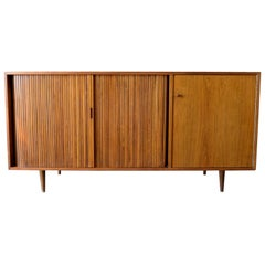 Milo Baughman for Glenn of California Tambour Door Credenza, circa 1965