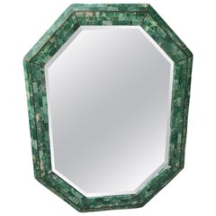 Maitland-Smith Tessellated Stone Octagonal Mirror
