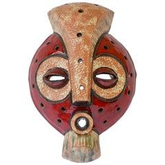 African Ceramic Tribal Mask from Congo