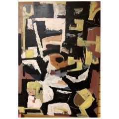 Original Midcentury Abstract Painting by Clay Walker