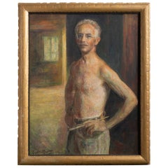 Self Portrait by Lazar Raditz, circa 1950
