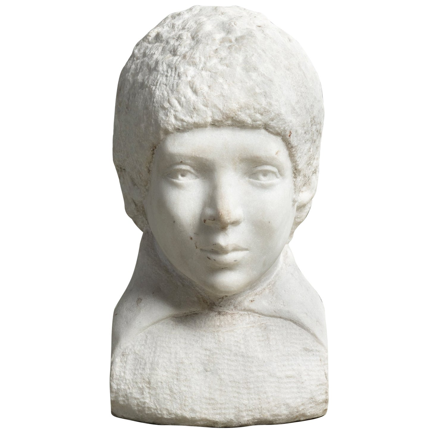 Unfinished Marble Bust, circa 19th Century