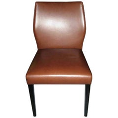 Pair of Classic Toga Leather Side Chairs