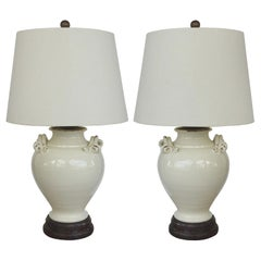 distressed table lamps white washed wood italian glazed terracotta handled urns mounted as lamps distressed table 72 for sale on 1stdibs